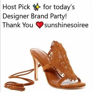 JOIE SHOES COGNAC whiskey suede NEW